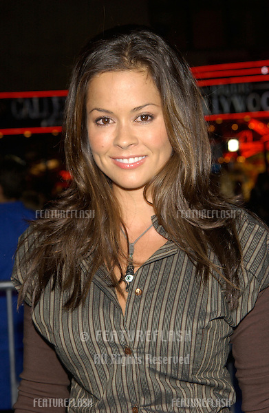 Actress BROOKE BURKE at the world premiere, in Hollywood, of The Tuxedo..19SEP2002.  © Paul Smith / Featureflash