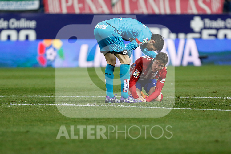 Atletico de Madrid´s Vietto reacts during 2015-16 La Liga match between Atletico de Madrid and Deportivo de la Coruna at Vicente Calderon stadium in Madrid, Spain. March 12, 2016. (ALTERPHOTOS/Victor Blanco)
