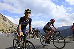 Esteban Chaves (COL) Orica-Scott and Matteo Bono (ITA) UAE Team Emirates climb Col d'Izoard during Stage 18 of the 104th edition of the Tour de France 2017, running 179.5km from Briancon to the summit of Col d'Izoard, France. 20th July 2017.<br /> Picture: Eoin Clarke | Cyclefile<br /> <br /> All photos usage must carry mandatory copyright credit (&copy; Cyclefile | Eoin Clarke)
