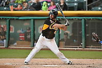 Drew Heid (4) of the Salt Lake Bees at bat against the Las Vegas 51s at Smith's Ballpark on May 8, 2014 in Salt Lake City, Utah.  (Stephen Smith/Four Seam Images)