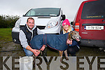 Patrick O'Connor and Josephine O'Connor with Downton Shadow at the Abbeydorney Coursing Club meeting on Sunday