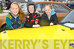 FORD: Chomie Madigan, Aisling and Roisín Brosnan, Killarney, looking over one of the Vintage Ford Cars at the Maurice Collins Vintage Day Sunday Banna West, Ardfert.
