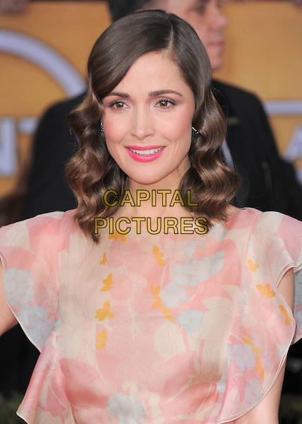Rose Byrne .Arrivals at the 19th Annual Screen Actors Guild Awards at the Shrine Auditorium in Los Angeles, California, USA..27th January 2013.SAG SAGs headshot portrait yellow lipstick pink beige ruffle .CAP/DVS.©DVS/Capital Pictures.