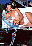 Lingerie billboard on Sunset Strip circa 1986