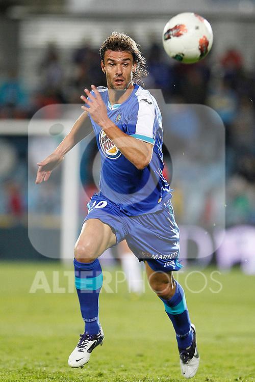 Getafe's Juan Valera during La Liga match.October 26,2011. (ALTERPHOTOS/Acero)
