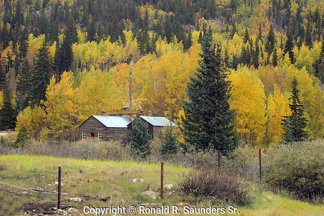Log homes in rural setting.<br /> <br /> St. Elmo is a ghost town in Chaffee County, Colorado, United States. Founded in 1880, St. Elmo lies in the heart of the Sawatch Range, 20 miles (32 km) southwest of Buena Vista and sits at an elevation of 9,961 feet (3,036 m). Nearly 2,000 people settled in this town when mining for gold and silver became evident. The mining industry started to decline in the early 1920s, and in 1922 the train discontinued service. The community is listed on the National Register of Historic Places as the St. Elmo Historic District. It is one of Colorado's best preserved ghost towns.<br /> « less