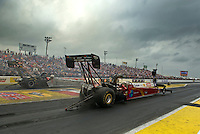 Apr. 30, 2011; Baytown, TX, USA: NHRA top fuel dragster driver Scott Palmer during qualifying for the Spring Nationals at Royal Purple Raceway. Mandatory Credit: Mark J. Rebilas-