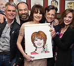 Troy Britton Johnson, Danny Burstein, Beth Leavel, Jim Caruso and Laura Osnes during the Beth Leavel Portrait unveiling at Sardi's on 3/26/2019 in New York City.