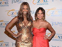 NEW YORK, NY - MAY 6, 2014: Tyra Bank and Model Chrissy Teigen attends the Tyra Banks'  Flawsome Ball 2014 , at Cipriani Wall Street ,May 6 , 2014 in New York City  HP/StarlitePics