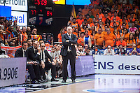 VALENCIA, SPAIN - June 11: Pablo Laso during SEMI FINAL ENDESA LEAGUE match between Valencia Basket Club and Real Madrid Basket at Fonteta Stadium on June 11, 2015 in Valencia, Spain