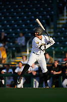 Bradenton Marauders Cal Mitchell (34) during a Florida State League game against the Jupiter Hammerheads on April 19, 2019 at LECOM Park in Bradenton, Florida.  Bradenton defeated Jupiter 7-1.  (Mike Janes/Four Seam Images)