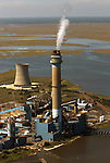 Aerial view of Oyster Creek Nuclear Power Plant, Tom's River, NJ