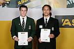 Volleyball Boys Finalists - Mike Harris &amp; Jacob Lee. ASB College Sport Young Sportsperson of the Year Awards 2006, held at Eden Park on Thursday 16th of November 2006.<br />
