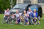 Pix: Shaun Flannery/shaunflanneryphotography.com..COPYRIGHT PICTURE>>SHAUN FLANNERY>01302-570814>>07778315553>>..12th May 2010...........Members of Doncaster Wheelers cycle club prepare for a gruelling 5 day cycle ride in aid of the Firefly cancer support charity and Doncaster Minster charities. Averaging over 100 miles each day the team will cycle through 5 countries, setting off from Doncaster, England, through Wales to Southern Ireland on to Northern Ireland then catching a ferry to Scotland before returning to Doncaster 5 day's later..L-R Ian Furniss, Martin Maltby, Paul Staton, Harvey Williams,  Steve Maltby.