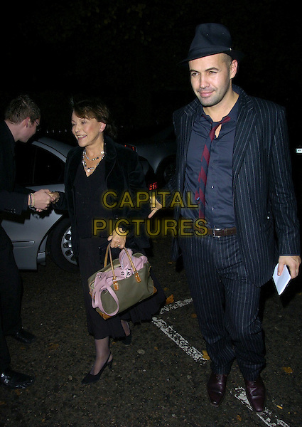 CLAIRE BLOOM & BLLY ZANE.Attend Kelly Brook's 27th Birthday Party, .The Hempel hotel, London, England, .November 24th 2006..full length hat pistripe suit jacket clare.CAP/CAN.©Can Nguyen/Capital Pictures