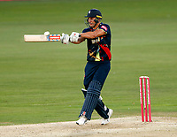 Marcus Stoinis hits out during the Vitality Blast T20 game between Kent Spitfires and Essex Eagles at the St Lawrence Ground, Canterbury, on Thu Aug 2, 2018