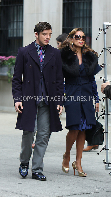 WWW.ACEPIXS.COM . . . . .  ....September 29 2009, New York City....Actors Michael Urie and Vanessa Williams on the set of the TV show 'Ugly Betty' on September 29 2009 in New York City....Please byline: AJ Sokalner - ACEPIXS.COM.... *** ***..Ace Pictures, Inc:  ..(212) 243-8787 or (646) 769 0430..e-mail: picturedesk@acepixs.com..web: http://www.acepixs.com