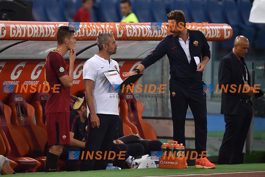 Patrik Schick, Eusebio Di Francesco <br /> Roma 01-09-2017 Stadio Olimpico Football Friendly match AS Roma - Chapecoense Foto Andrea Staccioli / Insidefoto