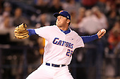 "Florida Gators Nick Maronde #26 during a game vs. the Florida State Seminoles in the ""Florida Four"" at George M. Steinbrenner Field in Tampa, Florida;  March 1, 2011.  Florida State defeated Florida 5-3.  Photo By Mike Janes/Four Seam Images"