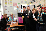 Sitting MEP Sean Kelly votes with his wife Juliette, daughter Julie (18) voting for the first time and mother Hannah (90) at The Monastery School, Killarney on Friday.<br /> Picturre by Don MacMonagle
