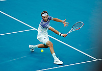 2nd February 2020; Melbourne Park, Melbourne, Victoria, Australia; Australian Open Tennis, Mens singles final on Day 14; Dominic Thiem of Austria during his singles final match against Novak Djokovic of Serbia