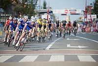 Yoann Offredo (FRA/FDJ.fr) leading his team (and the peloton) catching the breakaway with 2 local laps to go<br /> <br /> stage 2<br /> Euro Metropole Tour 2014 (former Franco-Belge)
