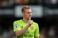 Goalkeeper Bernd Leno of Arsenal during the Premier League match between Watford and Arsenal at Vicarage Road, Watford, England on 16 September 2019. Photo by Andy Rowland.
