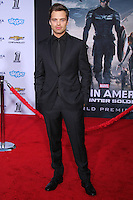 """HOLLYWOOD, LOS ANGELES, CA, USA - MARCH 13: Sebastian Stan at the World Premiere Of Marvel's """"Captain America: The Winter Soldier"""" held at the El Capitan Theatre on March 13, 2014 in Hollywood, Los Angeles, California, United States. (Photo by Xavier Collin/Celebrity Monitor)"""