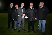 Cheque presentation during Romford vs Haringey Borough, Bostik League Division 1 North Football at Ship Lane on 8th November 2017