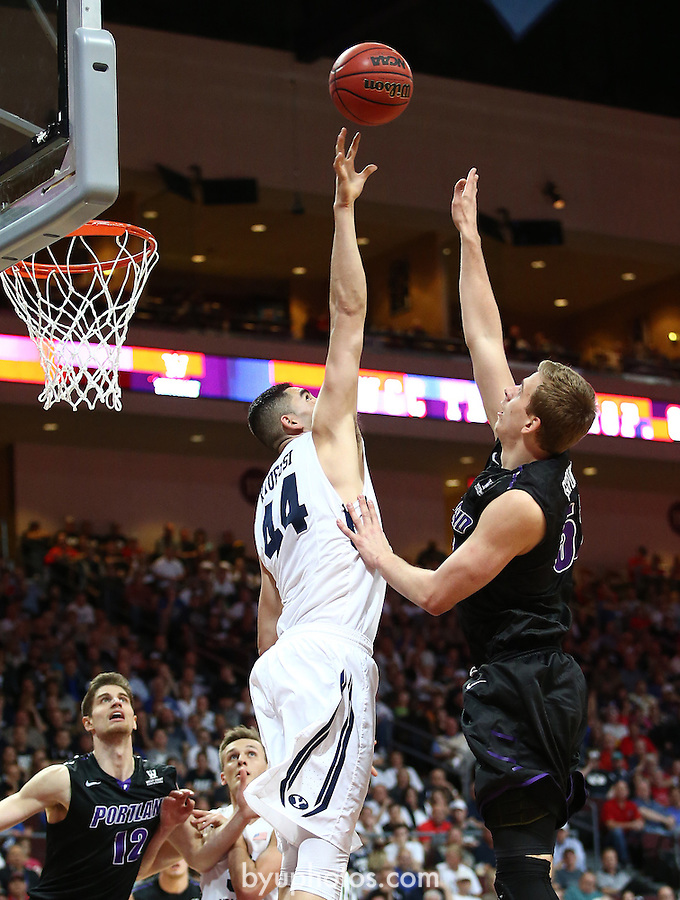 Kaufusi, Corbin MAPA8525<br /> <br /> The BYU Men's Basketball Team defeated Portland 84-70 in the Semi-Final Round of the WCC Conference Tournament at the Orleans Arena in Las Vegas, NV. <br /> <br /> 14-15 BYU Men's Basketball<br /> <br /> March 9, 2015<br /> <br /> Photo by Jaren Wilkey/BYU<br /> <br /> &copy; BYU PHOTO 2015<br /> All Rights Reserved<br /> photo@byu.edu  (801)422-7322