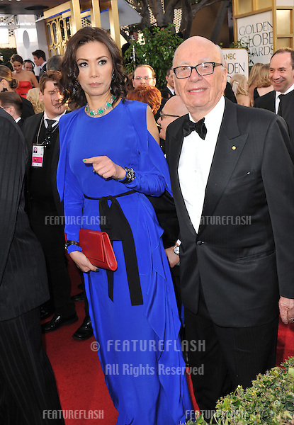Rupert Murdoch & Wendi Deng at the 70th Golden Globe Awards at the Beverly Hilton Hotel..January 13, 2013  Beverly Hills, CA.Picture: Paul Smith / Featureflash