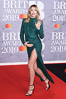 LONDON, UK. February 20, 2019: Abbey Clancy arriving for the BRIT Awards 2019 at the O2 Arena, London.<br /> Picture: Steve Vas/Featureflash<br /> *** EDITORIAL USE ONLY ***