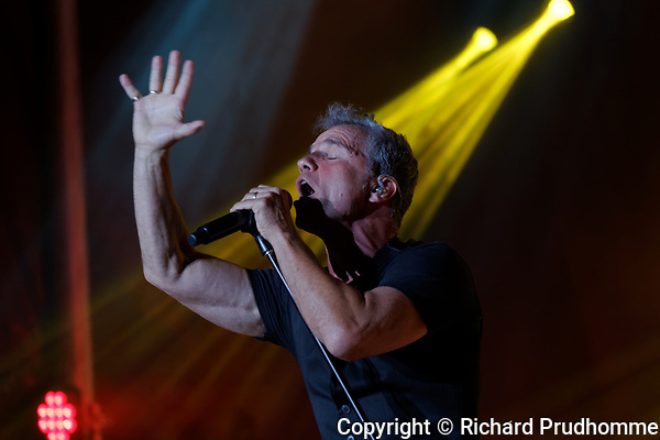 Montreal, Canada 16/08/2017 . Quebec francophone singer Bruno Pelletier  performs at the Supernova outdoor show held during Montreal Pride Week.