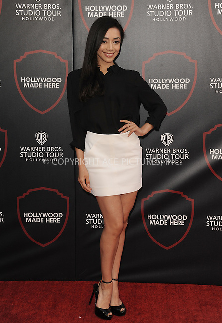 WWW.ACEPIXS.COM<br /> <br /> July 14 2015, Los Angeles Ca<br /> <br /> Aimee Garcia arriving at the Warner Bros. Studio Tour Hollywood Expansion Official Unveiling on July 14 2015 in Los Angeles California.<br /> <br /> Please byline: Peter West/ACE Pictures<br /> <br /> ACE Pictures, Inc.<br /> www.acepixs.com<br /> Email: info@acepixs.com<br /> Tel: 646 769 0430