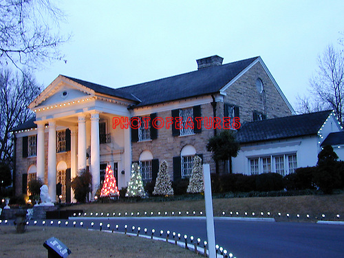 Elvis Presley's home in Memphis, Graceland.