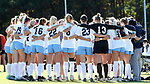 CARY, NC - NOVEMBER 19: UNC players huddle before the game. The University of North Carolina Tar Heels hosted the Princeton University Tigers on November 19, 2017 at Koka Booth Stadium in Cary, NC in an NCAA Division I Women's Soccer Tournament Third Round game. Princeton won 2-1 in sudden death overtime.