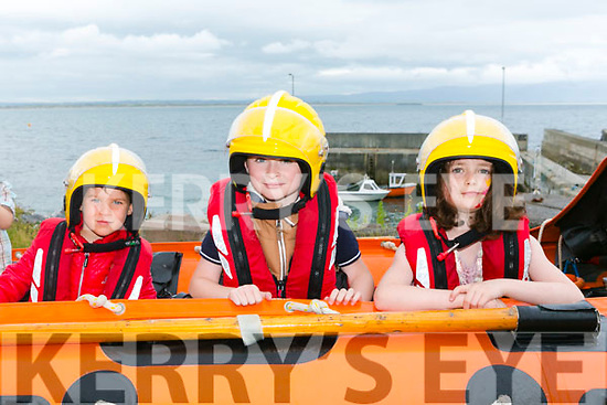 Ballyheigue Inshore Rescuen Open Day at the Boathouse on Dromature Pier on Sunday Pictured Jake Lucid, Harry Rooney, Jack Faye and Ruby Lucid