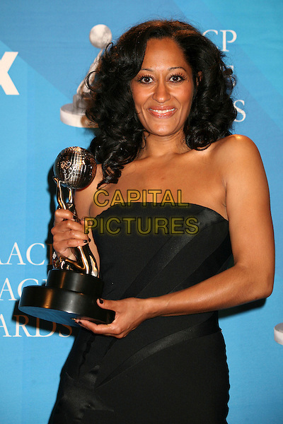 TRACEE ELLIS ROSS.38th Annual NAACP Image Awards at the Shrine Auditorium - Press Room, Los Angeles, California, USA, .2 March 2007..half length award trophy black dress.CAP/ADM/BP.©Byron Purvis/AdMedia/Capital Pictures.