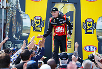 Apr 23, 2017; Baytown, TX, USA; NHRA top fuel driver Doug Kalitta during the Springnationals at Royal Purple Raceway. Mandatory Credit: Mark J. Rebilas-USA TODAY Sports