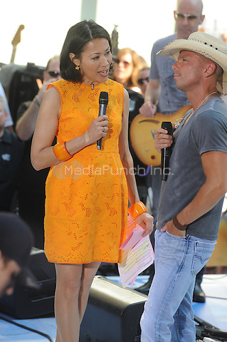 Ann Curry Intervews Kenny Chesney at NBC's Today Show during the Toyota Concert Series in New York City. June 22, 2012.. Credit: Dennis Van Tine/MediaPunch
