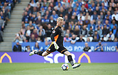 9th September 2017, King Power Stadium, Leicester, England; EPL Premier League Football, Leicester City versus Chelsea; Kasper Schmeichel of Leicester City clears the ball up field