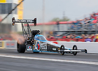 Apr 12, 2019; Baytown, TX, USA; NHRA top fuel driver Antron Brown during qualifying for the Springnationals at Houston Raceway Park. Mandatory Credit: Mark J. Rebilas-USA TODAY Sports