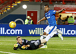 Alfredo Morelos has his shot saved by goalkeeper Darren Jamieson