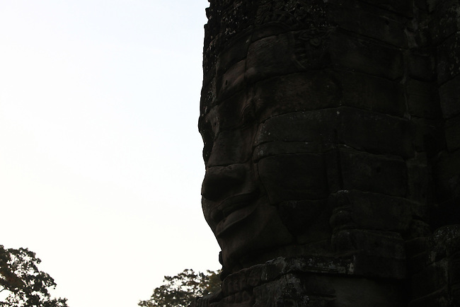 The ruins of Bayon at Angkor Thom, Cambodia. June 9, 2013.