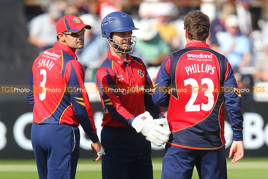 Essex players celebrate the wicket of Tom Latham - Essex Eagles vs Scotland - Yorkshire Bank YB40 Cricket at the Essex County Ground, Chelmsford - 02/06/13 - MANDATORY CREDIT: Gavin Ellis/TGSPHOTO - Self billing applies where appropriate - 0845 094 6026 - contact@tgsphoto.co.uk - NO UNPAID USE