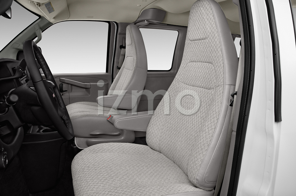 Front seat view of 2018 GMC Savana-Passenger 3500-LS-Ext 5 Door Passenger Van Front Seat  car photos