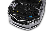 Car stock 2017 Skoda Octavia Combi RS 5 Door Wagon engine high angle detail view