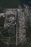 Aug. 31, 2012; Claremont, IN, USA: Aerial view of Lucas Oil Raceway during NHRA qualifying for the US Nationals. Mandatory Credit: Mark J. Rebilas-