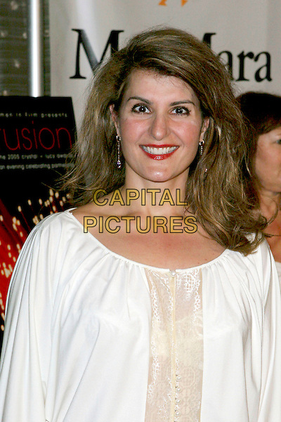 NIA VARDALOS.Women In Film presents Fusion, The 2005 Crystal and Lucy Awards An Evening Celebrating Partnership held at the Beverly Hilton, Beverly Hills, CA, USA, .10th June 2005..portrait headshot white top .Ref: ADM.www.capitalpictures.com.sales@capitalpictures.com.©Jacqui Wong/AdMedia/Capital Pictures.
