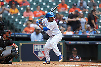 Alex Rodriguez (19) of the Kentucky Wildcats at bat against the Sam Houston State Bearkats during game four of the 2018 Shriners Hospitals for Children College Classic at Minute Maid Park on March 3, 2018 in Houston, Texas. The Wildcats defeated the Bearkats 7-2.  (Brian Westerholt/Four Seam Images)